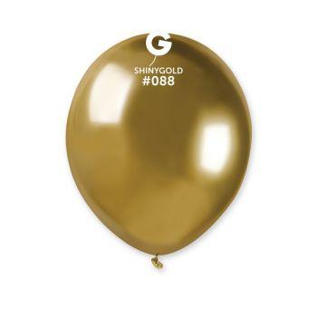 50 Ballons shinny metallic gold Ø13cm