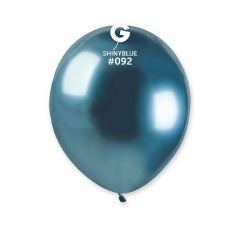 50 Shinny Metallic Ballons blau Ø13cm