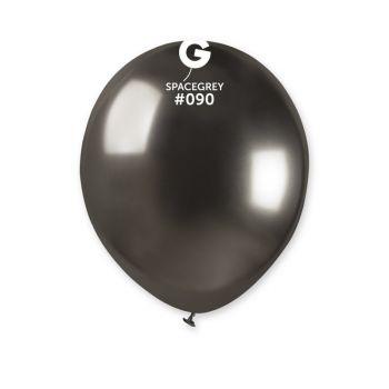 50 Ballons shinny metallic schwarz Ø13cm