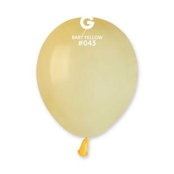 50 Ballons gelb pastell Ø13cm