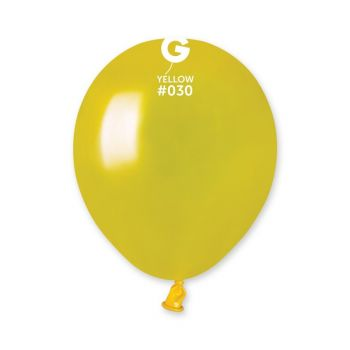 50 Metallic Ballons gelb Ø13cm