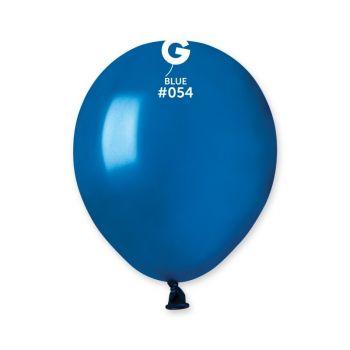 50 Metallic Ballons königsblau Ø13cm