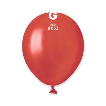 50 Metallic Ballons rot Ø13cm