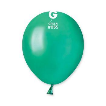 50 Metallic Ballons tannengrün Ø13cm