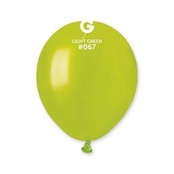 50 Metallic Ballons grün anis Ø13cm