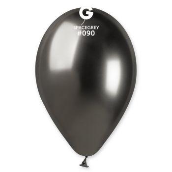 25 Ballons shinny metallic schwarz Ø33cm