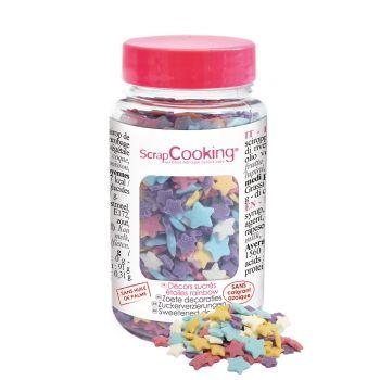 Konfetti aus Rainbow-Sternenzucker Scrapcooking 55g