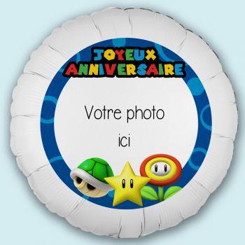 Maxi-Ballon personalisiert Dekor Mario Bross Ø43cm