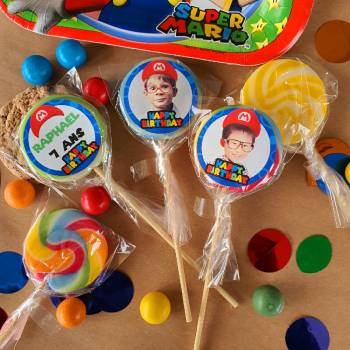 10 personalisierte Hüllen Dekor Mario