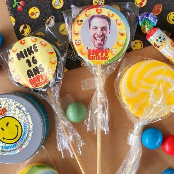 10 personalisierte Schnuller Smiley Dekor