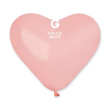 50 Ballons herz rosa baby 25cm