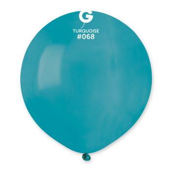 10 Türkis Ballons Ø48cm
