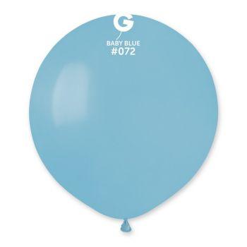 10 Babyblaue Ballons Ø48cm