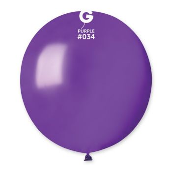 10 Lila Metallic Ballons Ø48cm