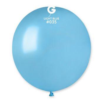 10 Metallisierte Luftballons Lagune Ø48cm