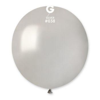 10 Silber metallisierte Ballons Ø48cm