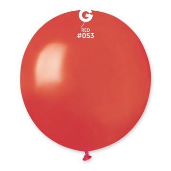 10 Metallic Ballons rot Ø48cm