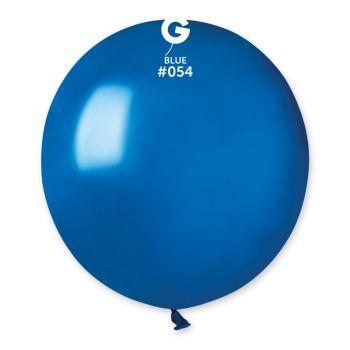 10 Metallic Ballons königsblau Ø48cm
