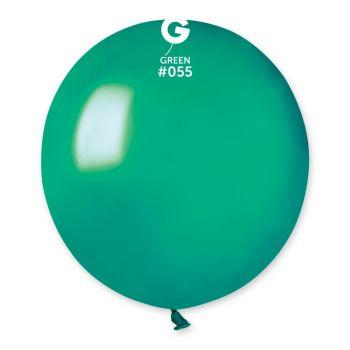 10 Metallisierte Luftballons tannengrün Ø48cm