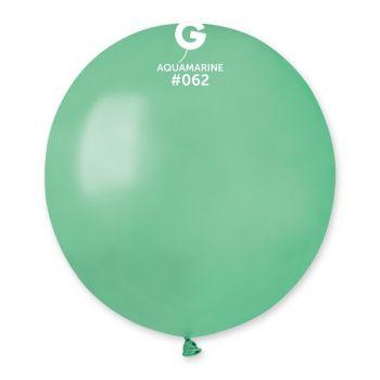 10 Wassergrün metallisierte Ballons Ø48cm