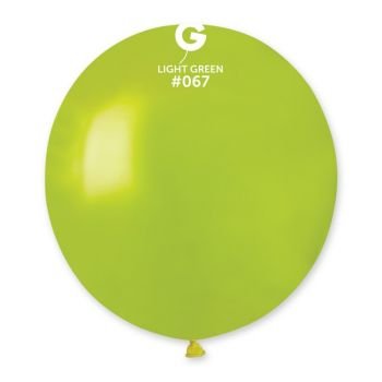 10 Metallic Ballons grün anis Ø48cm
