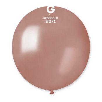 10 Metallisierte Ballons gold rosa Ø48cm