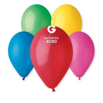 12 Bunte Ballons Ø30cm