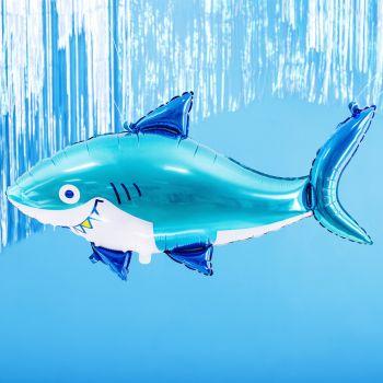 Luftballon Alu Blauer Hai