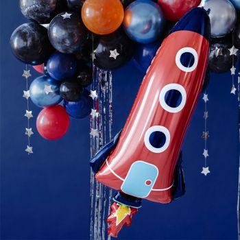 Luftballon alu Rakete