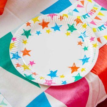 12 Teller Ecolo rainbow star