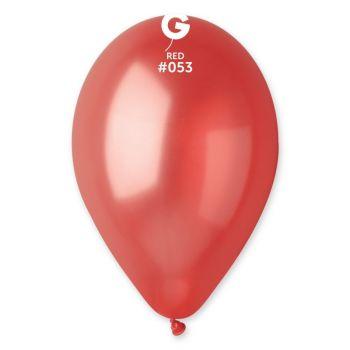 100 Metallic Luftballon rot Ø30cm