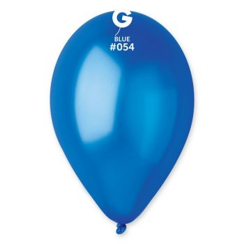 100 Metallic Luftballon königsblau Ø30cm
