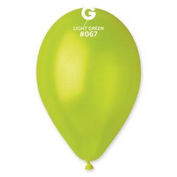 10 Metallic Luftballon grün anis Ø30cm