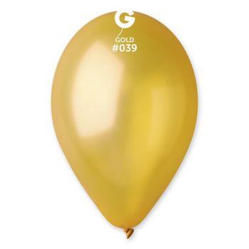 10 Metallic Luftballon gold Ø30cm