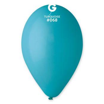12 Türkis Pastell Luftballon Ø30cm