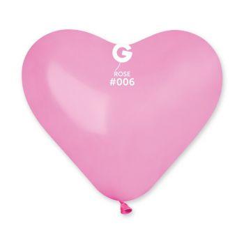 5 Ballons Herz rosa 25cm