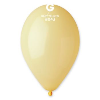 50 Ballons gelb pastell Ø30cm