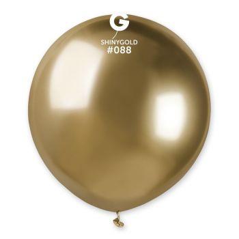 3 Shiny Metallic Ballons Glänzendgold Ø48cm
