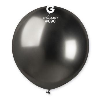3 Anthrazit-Shiny-Ballons Ø48cm