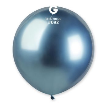 3 Shiny Metallic Ballons blau Ø48cm
