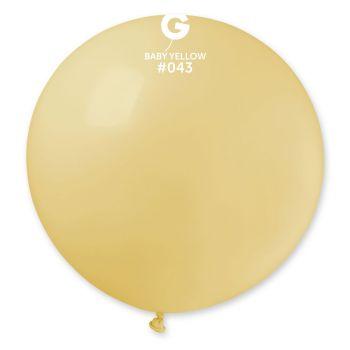 1 Riesiger Ballon pastellfarben Ø80cm