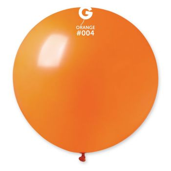 1 Riesiger Ballon orange Ø80cm