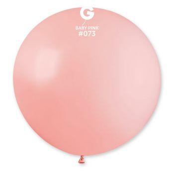 1 Riesen-Ballon Rosa Baby Ø80cm