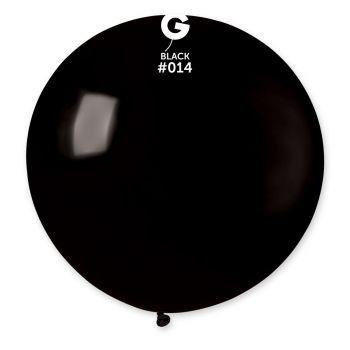 1 Riesiger Ballon schwarz Ø80cm