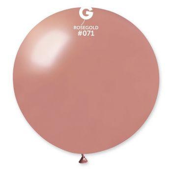 1 Ballon Riesen rosa gold metallisiert Ø80cm