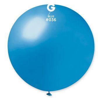 1 Riesenball blau metallisiert Ø80cm