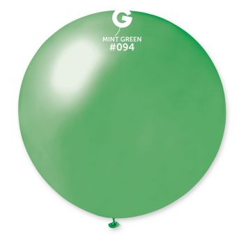 1 Riesiger Mint-Mint-Ballon Ø80cm