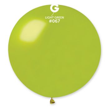 1 Riesiger Ballon grün anis metallisiert Ø80cm
