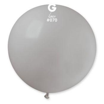 1 Riesiger Ballon grau Ø80cm