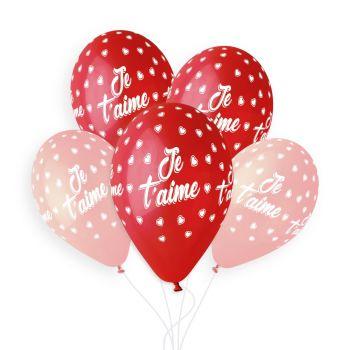 5 Ballons Ich liebe dich Ø33cm